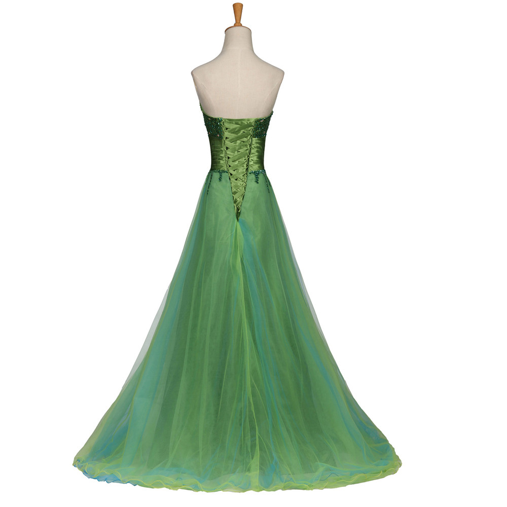 Emerald Green Ball Gown With Golden Beading Style 141