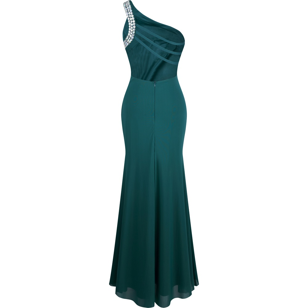 Teal Form Fitted Dress With Silver Detail Style Af30 Bu