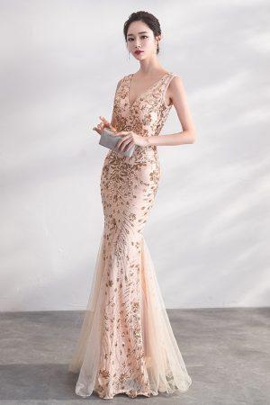 DongCMY-Gold-Color-Sequin-Prom-Dresses-Vestido-Long-Elegant-Evening-Party-Women-Gowns